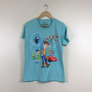 Disney Store 30th Anniversary Pixar Blue T-shirt